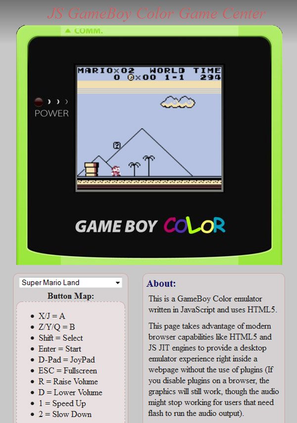 game boy color emulator