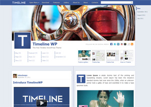 Facebook Timeline WordPress Theme